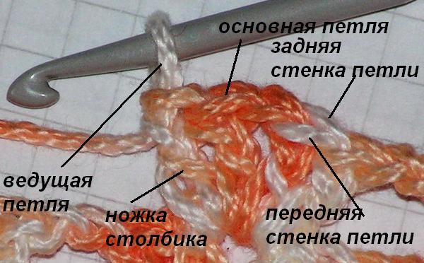 Задняя стенка петли при вязании крючком