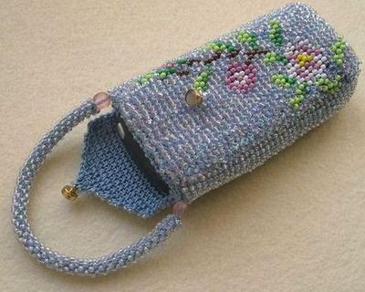 вязание бисером крючком - Сумки.
