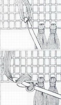 Бахрома для шалей вязаных крючком